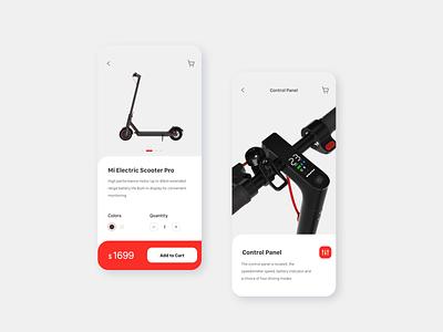 Mi Electric scooter app web application ui app design design ux website user interface user experience ui