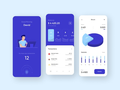 Crypto Mobile App mobile interface vector illustration ux ui app cryptocurrency scan crypto wallet coin stats diorama graphic