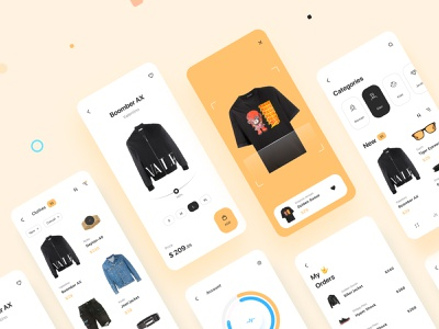 Shopping app inspiration mobile interface ux app ui design magazine clothes cartoon shop catalog