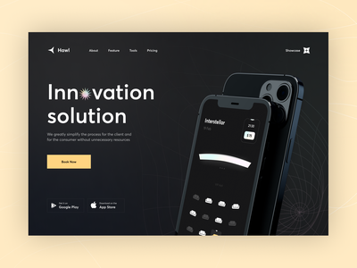 Cinema Product Landing landing web  design web concept mobile inspiration interface ux ui app design