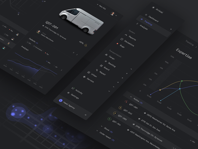Arrival Dashboard UI Concept infographic branding panel web dark mobile stats concept graphic design analysis menu admin dashboard inspiration ux ui app design interface hawl