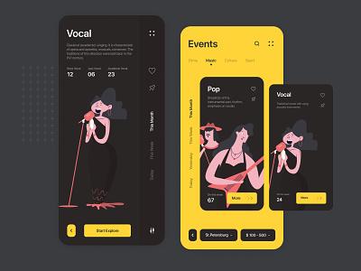 Event App daily ui mobile design web creative cards graphic illustraion interface webdesign concept ux ui app inspiration iphone event