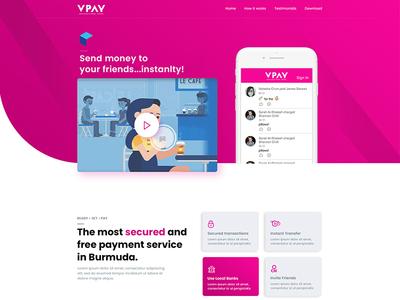 VPAY Landing page design