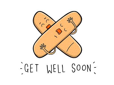 Get Well Soon! procreate cards get well soon illustrator illustration print greeting cards digital art sketchbook design art