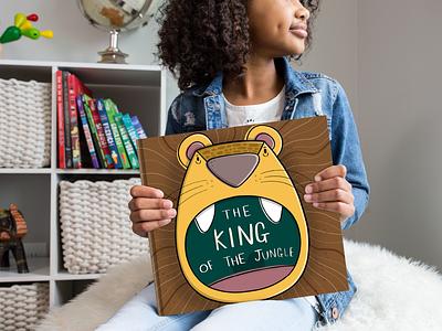 King Of The Jungle product design childrens illustration print childrens books procreate character design design sketchbook illustration digital art art