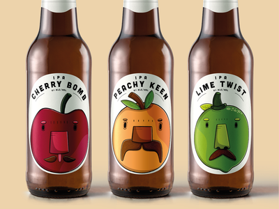 Soulfly Fruit Beer branding and identity beer fruit beer bottle label branding product design print procreate design sketchbook illustration digital art art