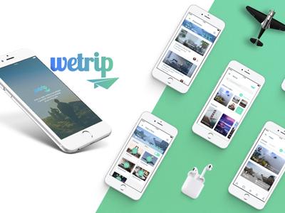 Wetrip App: UX/UI Design trip mobile app design ui ux