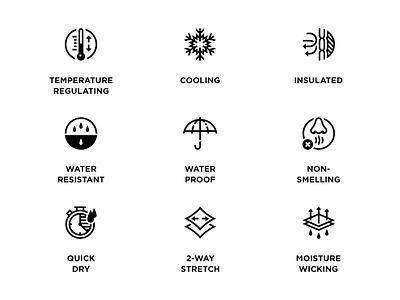 Garment Icons brand visual design illustration icon