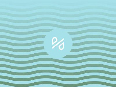 Percentage of Clean Water visual design monogram illustration icon