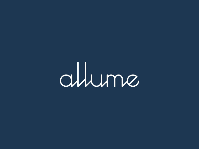 Allume - Script visual  identity identity design branding wordmark logo