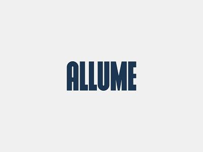 Allume - Condensed Wordmark typography condensed wordmark visual identity branding logo