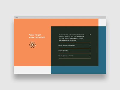 Mya Systems - Collapsed Text website web design desktop ux design uidesign digital product
