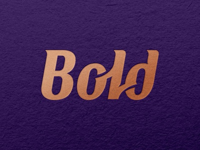 Bold - Wordmark typography design icon visual identity branding wordmark logo