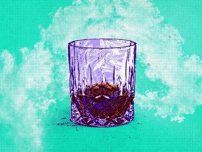 Whiskey Tumbler psychadelic highball tumbler whiskey alcohol food and beverage branding exploration visual design icon logo illustration