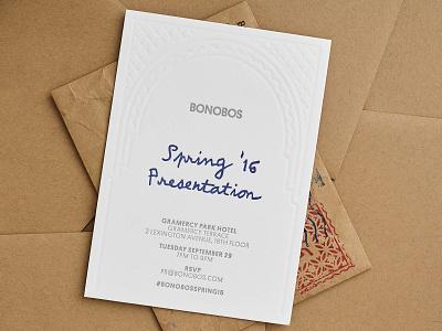 Letter Pressed Invitation visual  identity visual bonobos brand graphic design editorial design letter moroccan editorial print design invitation letterpress