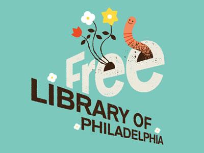 Free Library of Philadelphia - Logo Treatment work flower dirt texture logo
