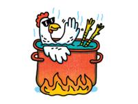 Chicken Hot Tub