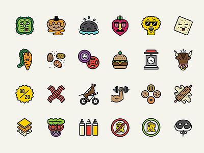 Burger Icons icons yum monoline burgers burger