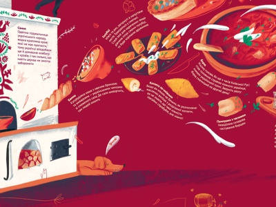 These Amazing Ukrainians: Dishes pets daughter dad mom family recipes cake fish vacuum cleaner stove goulash cutlets dumplings borscht eastern europe cuisine slavic