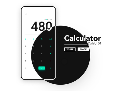 Calculator Design calculator app dark ui dark mode app minimalist clean design ui ux uidesign minimal 004 dailyui calculator calculator ui