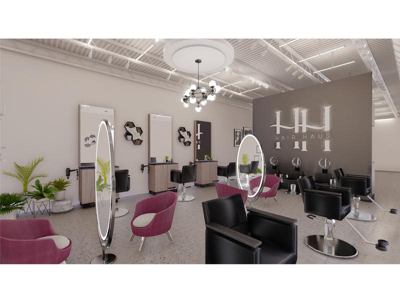Salon Interior Design & 3D Visualization. interiors interiordesign furniture layout furniture design salon interior salon design salon interior decor commercial property realestateagent realestate architect 3drendering realtor architecture