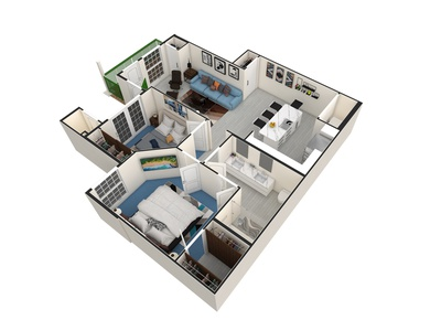 Apartment Unit 3D Floorplan. lumion autocad interior architecture floor bedroom design apartments apartment design floor plan 3dfloorplan 3d floorplan interior design illustration homebuilder realestateagent realestate 3drendering realtor architecture