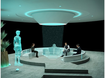 Futuristic Office Conference Room