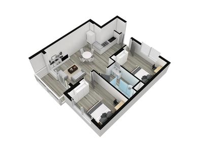 Apartment 3D Floor Plan, Capetown