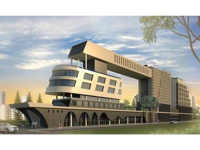 Luxurious Hotel Exterior Design, West Africa.
