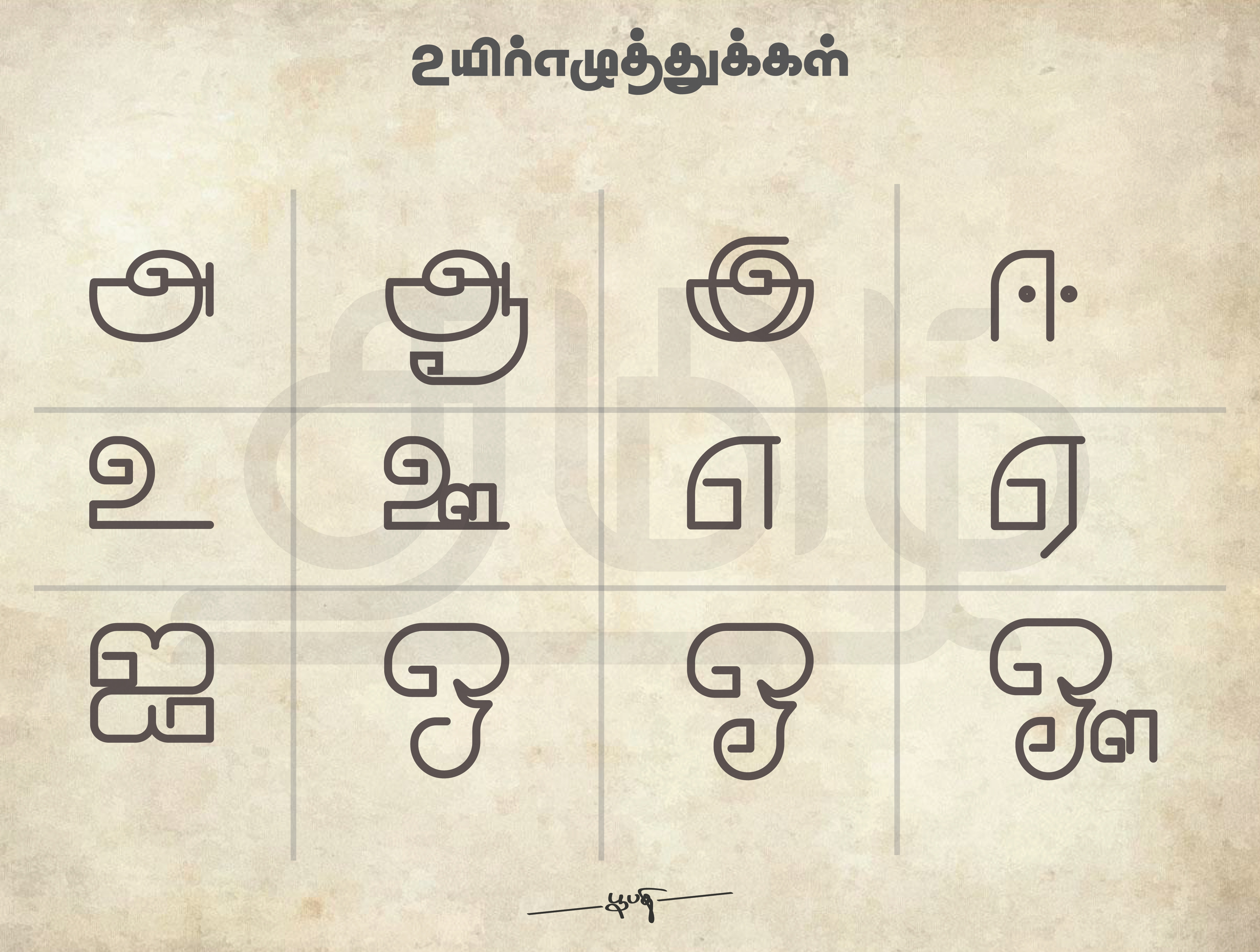 Tamil letters rgb 01 01