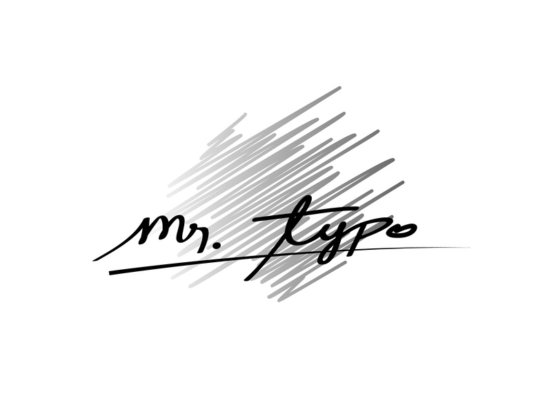 Mr.Typo Logo design mr.typo logo design design vector logo