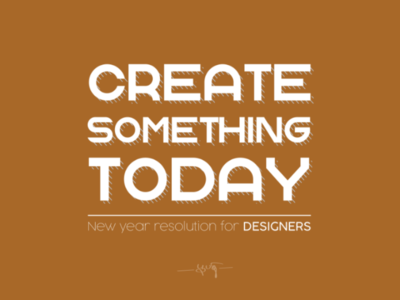 New year resolution new year design create typo typography