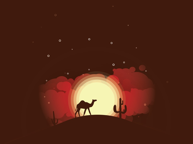 Silhouette illustration vector camel illustrator illustration