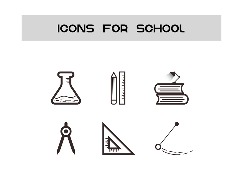 Icon for School school illustration education icon design icon design