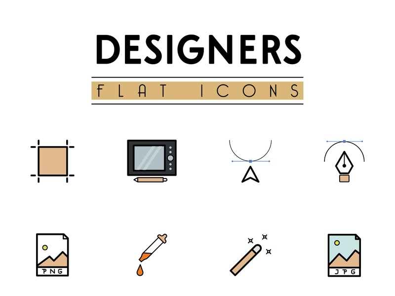 Icons Designer vector illustration design graphic  design flat icons flat designs icon design icon designer