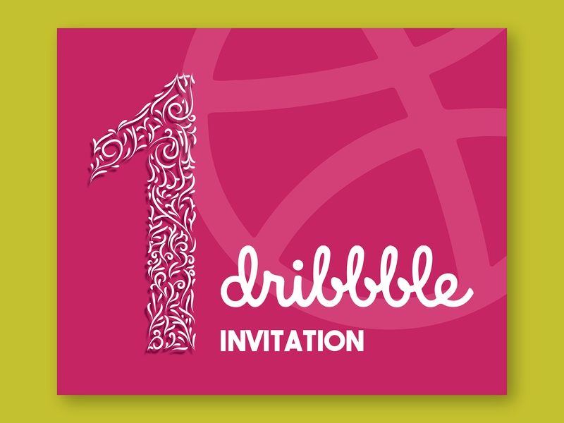My 1 st Invite vector design invitaion dribbble invite dribbble illustration