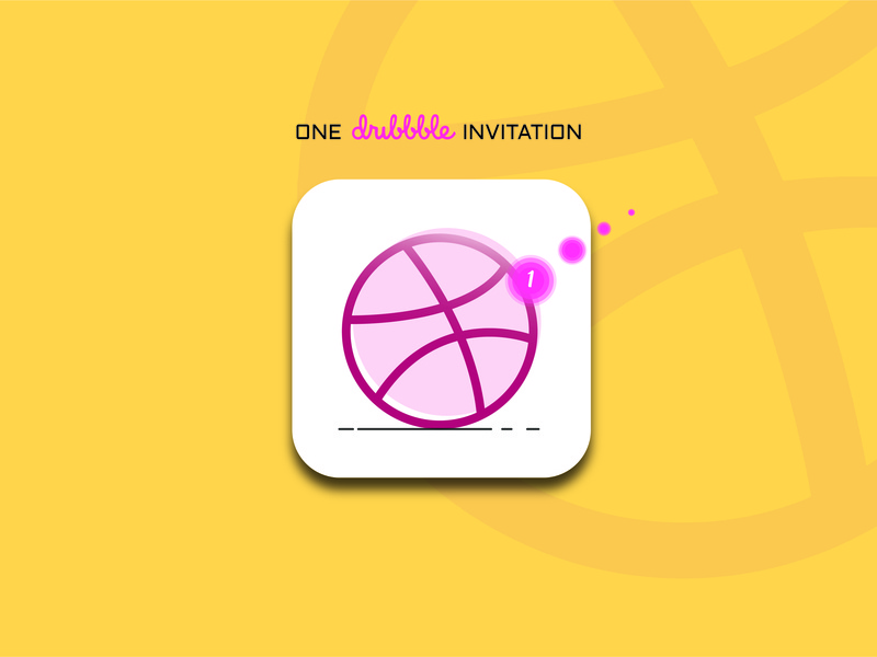 Invitation dribbble invite giveaway dribbble invite dribbble invitation invitaion vector logo dribbble illustration