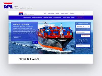 APL Logistics Redesign apl logistics logistic transport aftereffects web design app animation web ux ui design