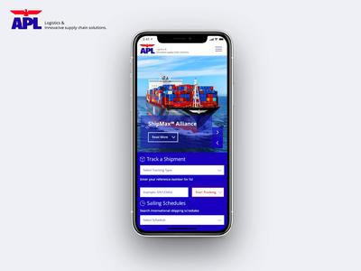 APL Logistics Mobile Redesign app design mobile app design logistic logistics transport mobile aftereffects app animation web ux ui design