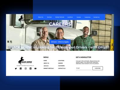 Blackhorse Carriers Website (Logistics) landing page transportation after effect transport logistics logistic web design aftereffects animation web ui ux design