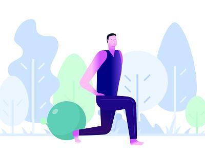 Workout and fitness Illustration branding web user interface saas marketplace design future mobile typogaphy product design web design animation illustration digital illustration art illustration