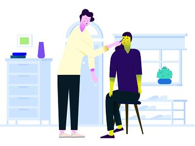 Makeup artist illustration branding uidesign design website saas design app user interface android animation web mobile ui  ux design marketplace illustration app