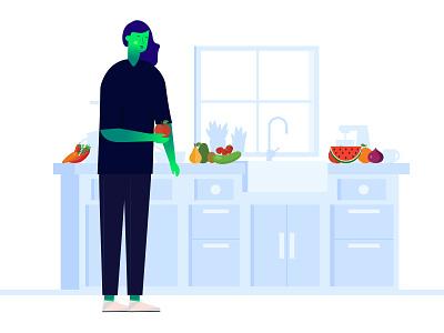 illustration of nutritionist. design app application app design app user interface saas ui vector design illustration illustrator illustration art illustrations
