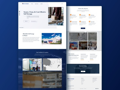 Self Storage Web Design - Version 1 minimalistic minimalism minimalist minimal landing page design landingpage webdesign landing web design gradient banner website design landing page website sketch design web