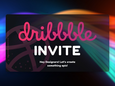 Dribbble Invite dribbble invitation dribbble dribbble invites dribbble invite typography ux branding ui banner vector illustration website design sketch design