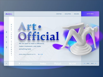 Art. Official Banner Concept 1 gradient design gradient color gradient landing page design landingpage banners banner design webdesign landing web design landing page banner website design website sketch design web