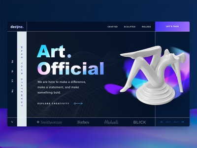 Art. Official Dark Concept 1 gradient design gradients gradient landing page design landingpage banner design banners webdesign landing web design landing page banner website design website sketch design web