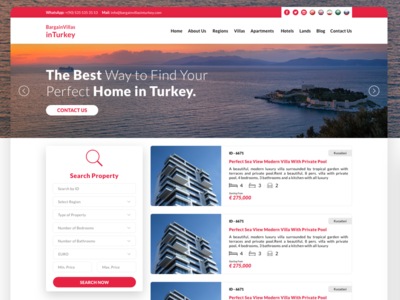 First Dribbble Item - Property Home Page