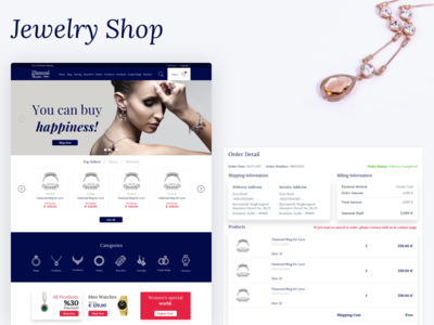 Jewelry Shop - DiamondTurkey Dribbble