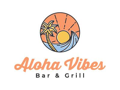 aloha vibes - logo design brand identity illustration logotype logo design logo